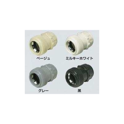 【法人限定】FPK-28YK (FPK28YK) 未来工業 10個入 コネクタ PF管用 ワンタッチ型 黒 適合管PF管28