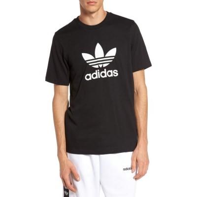 アディダス ADIDAS ORIGINALS メンズ Tシャツ トップス Trefoil Graphic T-Shirt Black