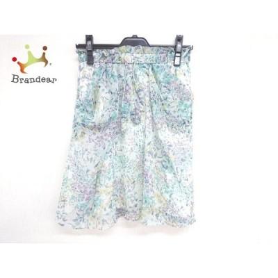 ジャスグリッティー JUSGLITTY スカート サイズ1 S レディース 白×ブルー×マルチ 花柄     スペシャル特価 20200424