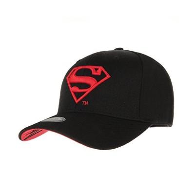 WITHMOONS AC3260 スーパーマン シールド 刺繍 ベースボールキャップ US サイズ: Small カラー: ブラック