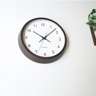 掛け時計 電波時計 KATOMOKU muku clock 13 ビーチブラウン km-104BRRC 連続秒針 名入れ対応品