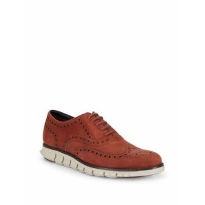 コールハーン メンズ シューズ オックスフォード 革靴 Zerogrand Suede Wing-Tip Oxfords