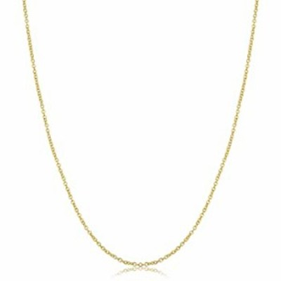 14k Yellow Gold Filled Cable Pendant Chain Necklace (1.5 mm, 22 inch)
