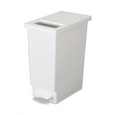 新輝合成 トンボ ユニード プッシュ&ペダル 45S ホワイト ゴミ箱