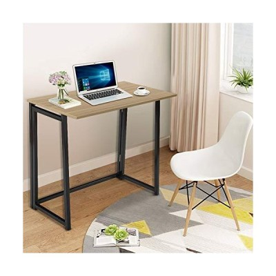 WATERJOY Folding Desk, Small Fold Study Desk,Home Office Computer Table,Compact Notebook Table,Vintage Fold Writing Laptop Reading Desk,Stud