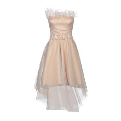 SOALLURE ミニワンピース&ドレス ベージュ 40 ナイロン 100% / ポリエステル / ポリウレタン ミニワンピース&ドレス