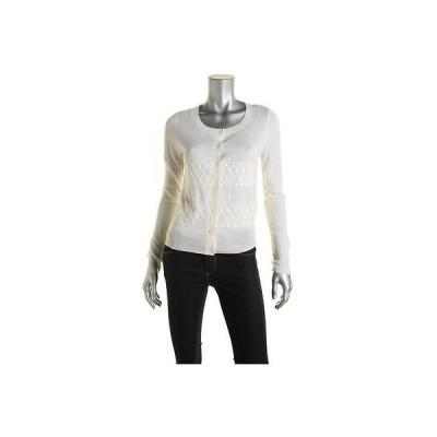 セーター アウター 防寒 海外セレクション Maison Jules 7112 レディース Lace Panel 長袖 カーディガン セーター
