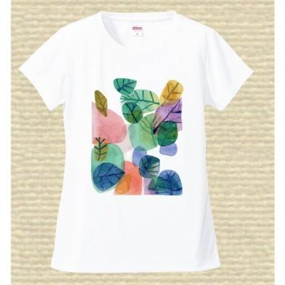 プリントTシャツ カラフルな葉