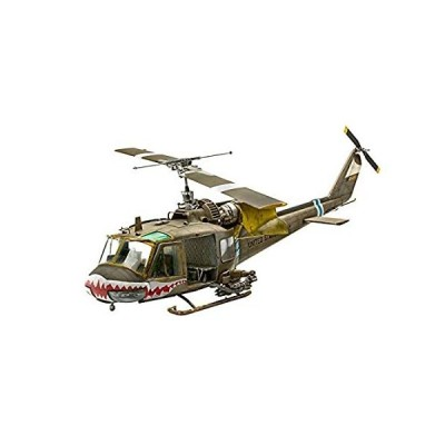 T-Toy Helicopter Puzzle Plastic Model Kits, 1/72 Scale US UH-1C Huey Helico