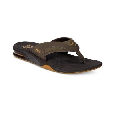 リーフ サンダル シューズ メンズ Men's Fanning Thong Sandals with Bottle Opener Brown