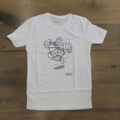 【訳あり】ミシュランTシャツ 汚れ Sサイズ ホワイト MICHELIN 1965