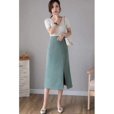 韓国風 S-XL スカート フレア タイトスカート フォーマル 大きいサイズ ミディアム丈 ミモレ丈  タイトスカート マーメイドライン