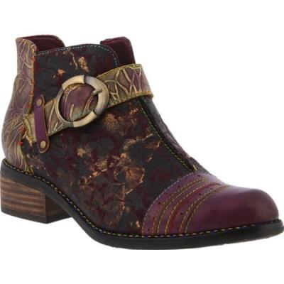 スプリングステップ ブーツ&レインブーツ シューズ レディース Georgiana Bootie (Women's) Purple Multi Leather/Microsuede