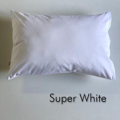 全18色 Mサイズ 枕カバー【スーパーホワイト】白/ピロケース/43cm×63cm/無地/ポイント消化♪