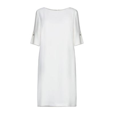 アトス ロンバルディーニ ATOS LOMBARDINI ミニワンピース&ドレス ホワイト 46 ポリエステル 100% ミニワンピース&ドレス