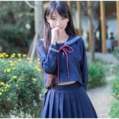 セーラー服 紺 前ジッパー紐タイ Mサイズ