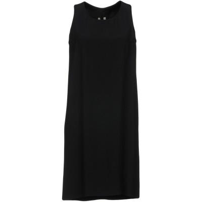 リック オウエンス RICK OWENS ミニワンピース&ドレス ブラック 40 アセテート 50% / レーヨン 50% ミニワンピース&ドレス