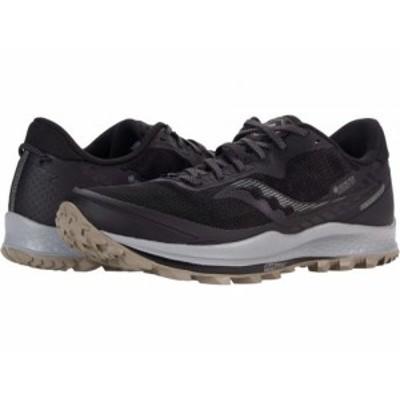 Saucony サッカニー メンズ 男性用 シューズ 靴 スニーカー 運動靴 Peregrine 11 GTX Black/Gravel【送料無料】