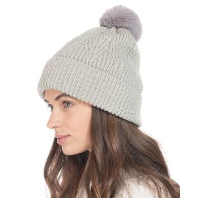アイエヌシーインターナショナルコンセプト 帽子 アクセサリー レディース INC Beanie With 2 Interchangeable Poms, Created for Macy's Grey