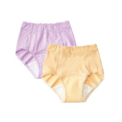 吸水パッド対応ショーツ2枚組(S) スタンダードショーツ, Panties