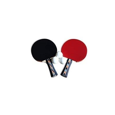 送料無料 Rack PRO 卓球ラケット/パドルセット – 3 – 0 mm 卓球トレーニングボールとファスナー付きナイロンストレージバッグ
