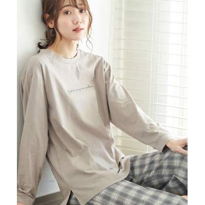 (ROPE' PICNIC/ロペピクニック)ロゴロングTシャツ/レディース グレー系(09)