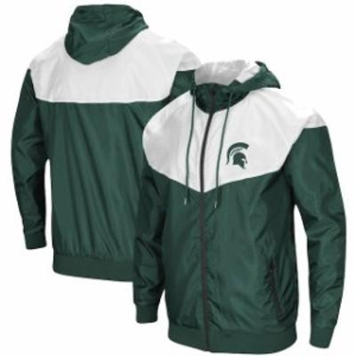 Colosseum コロセウム スポーツ用品  Colosseum Michigan State Spartans Green Gallivanting Full-Zip Wind Jacket