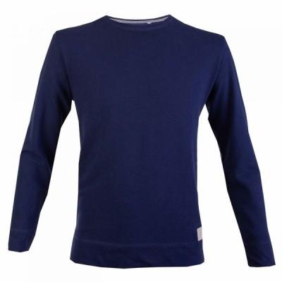 ダブルTWO Double Two メンズ 長袖Tシャツ トップス Long Sleeved T-Shirt Blue