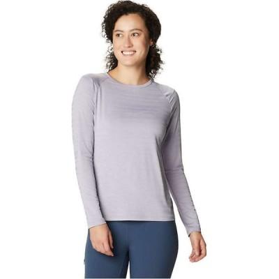 マウンテンハードウェア Mountain Hardwear レディース 長袖Tシャツ トップス Mighty Stripe LS Tee Frost Grey