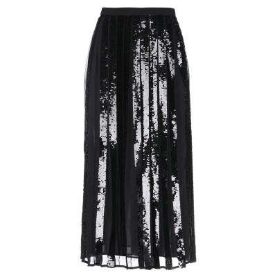 ツインセット シモーナ バルビエリ TWINSET 7分丈スカート ブラック 38 ポリエステル 100% 7分丈スカート