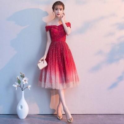 二次会 大きいサイズ Aライン ブライダル キレイめ オシャレ ウェディングドレス 短いワンピース プリンセスライン 花嫁 結婚式 着痩せ パーティードレス 女性