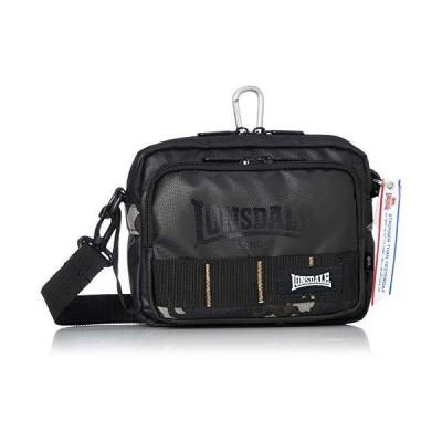ロンズデール ショルダーバッグ ヨコ型 カーボンコート バッグインバッグ ショルダーベルト脱着可能 ブラックカモ