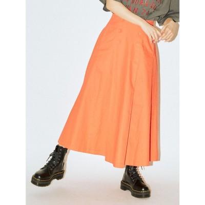 jouetie ダブルボタンボリュームスカート(オレンジ)