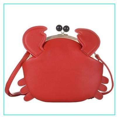 【新品】QZUnique Women's PU Crab Clasp Closure Tote Handbag Cute Satchel Cross Body Shoulder Bag(並行輸入品)