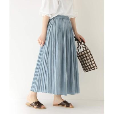レディース ベーセーストック シャドーストライプギャザースカート ブルー フリー