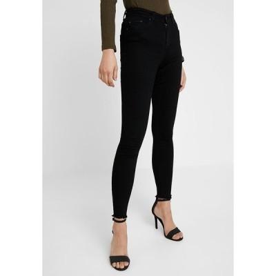 オンリー デニムパンツ レディース ボトムス ONLBLUSH MID RAW - Jeans Skinny Fit - black denim
