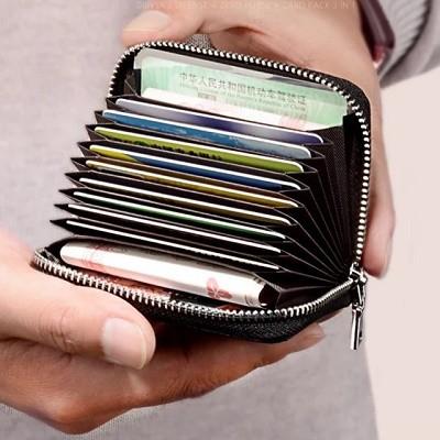 カードケース メンズ レディース カード入れ ジャバラ コンパクト 大容量 6色 おしゃれ ゆうメール便 代引き不可 送料無料