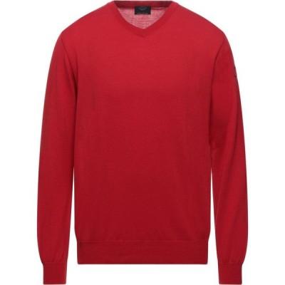 ポール シャーク PAUL & SHARK メンズ ニット・セーター トップス Sweater Red