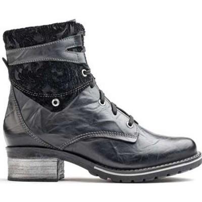 ドロミダリス Dromedaris レディース ブーツ ショートブーツ シューズ・靴 Kara Velvet Ankle Boot Black Leather