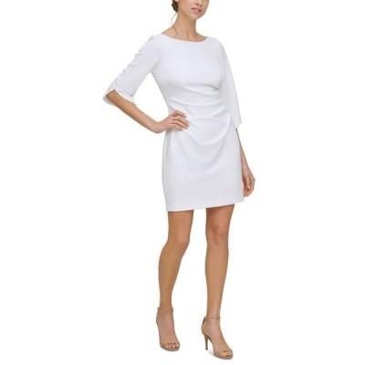 ジェシカハワード レディース ワンピース トップス Petite Beaded-Sleeve Sheath Dress