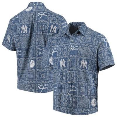 ユニセックス スポーツリーグ メジャーリーグ New York Yankees Reyn Spooner Lahaina Button-Down Shirt - Navy Tシャツ