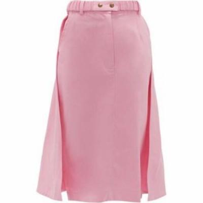 シモンズ ピアメイン Symonds Pearmain レディース ひざ丈スカート スカート Panelled cotton midi skirt Pink