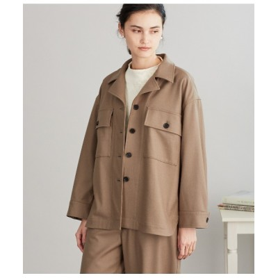 NEWYORKER / Super160s Wool Light Melton CPOアウター WOMEN ジャケット/アウター > ダウンジャケット/コート