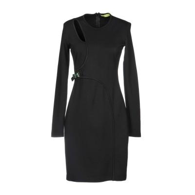 VERSACE ミニワンピース&ドレス ブラック 40 レーヨン 70% / ナイロン 25% / ポリウレタン 5% ミニワンピース&ドレス