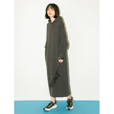 【エミ】 コクーンフーディーワンピース レディース CGRY F emmi