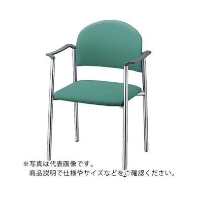 ナイキ チェアー ビニールレザー張り (E164B-LGR) (株)ナイキ (メーカー取寄)