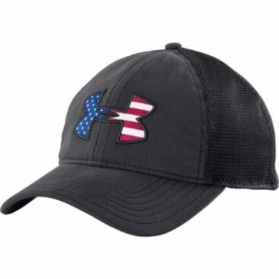 アンダーアーマー ハット Under Armour Big Flag Logo Mesh Back Hat Black
