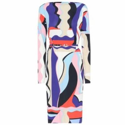 エミリオ プッチ Emilio Pucci レディース ワンピース ワンピース・ドレス Printed silk-blend jersey dress Viola/Corallo