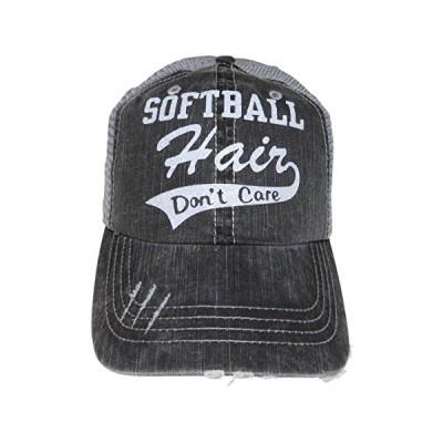 スピリット キャップ ホワイト グリッター Softball ヘアー Don't Care Series グレー Distressed(海外取寄せ品)