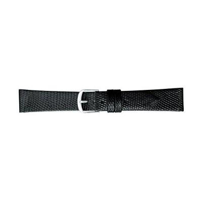 [バンビ] 腕時計 時計バンド リザード 18mm BTA102AP ブラック